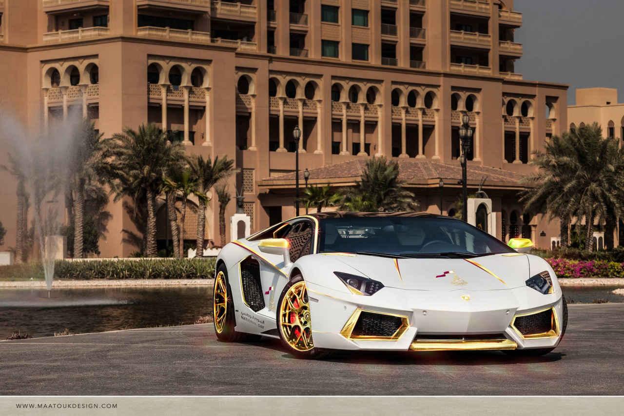 Lamborghini-Aventador-goud-007