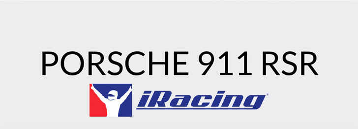 Porsche 911 RSR Comes To iRacing – Auto Overload